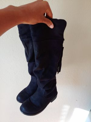 Cute black boots- girls 12 for Sale in Reno, NV
