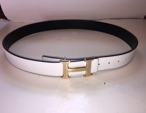 Hermes White and Black Reversible Gold Buckle Belt for Sale in Queens, NY