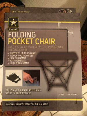 US army pocket folding chair for Sale in Las Vegas, NV