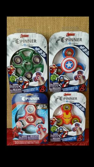 $5 Lot of 4 Marvel Fidget Spinners Hulk Ironman Captain America Spiderman for Sale in Hemet, CA