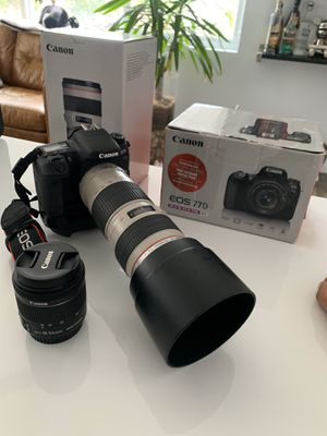 Canon 77D w/ Canon lenses and Canon backpack for Sale in Miami, FL