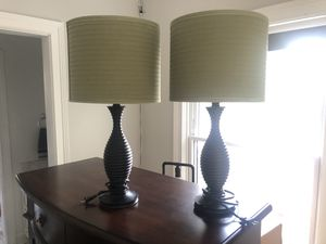 Pair of decorative lamps for Sale in Elmhurst, IL