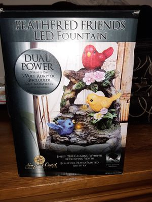Feathered friends led fountain for Sale in Denver, CO