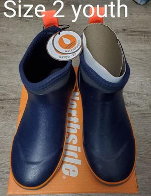 Boy's Northside Rain Boots size 2 Youth - NEW for Sale in Renton, WA
