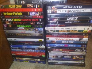 40 plus DVDs all for $19.95 for Sale in Glenwood, OR