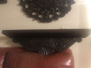 Mission Style Carved Wood Shelf for Sale in Corona, CA