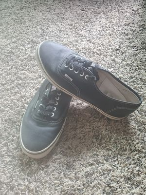 Mens black leather Vans size 10.5 very good condition located in yorba linda for Sale in Yorba Linda, CA