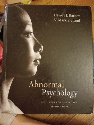 Abnormal Psychology: An Integrative Approach 7th Edition for Sale in Parkersburg, WV