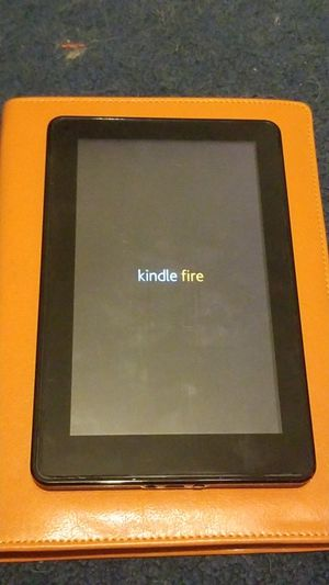 Black Kindle Fire With Leather Case for Sale in Los Angeles, CA