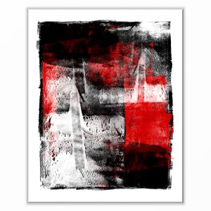 Red and black abstract wall art print for Sale in West Olive, MI