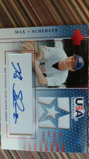 Max Scherzer baseball card Autographed for Sale in Rocky Hill, CT