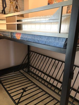 Loft Bed with Full Futon for Sale in Raleigh, NC