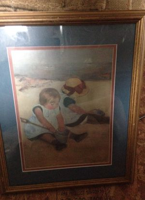 Girls playing in the sand Mary Cassatt for Sale in Washington, MD