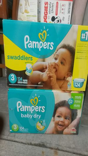 Pampers swaddlers and baby dry $50 for both for Sale in Beaverton, OR