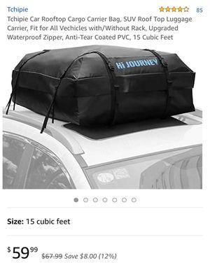 Car rooftop cargo bag for Sale in Hemet, CA