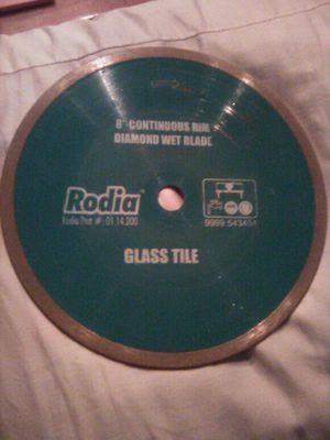 """Rodia 8"""" wet saw glass blade for Sale in Mary Esther, FL"""