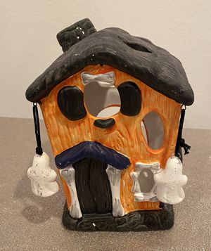 Orange / Black Spooky Candle Holder Halloween House for Sale in San Juan Capistrano, CA