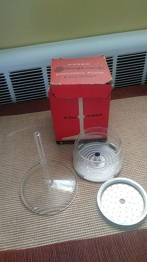 Vintage Pyrex 6 cup perk pump in box never used for Sale in Stoughton, MA