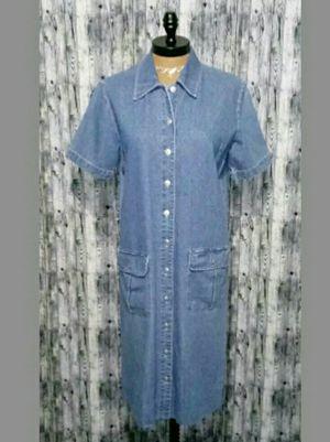 Original TY Wear Button Front Denim Jean Tunic Dress Women's Size S for Sale in Mount Dora, FL