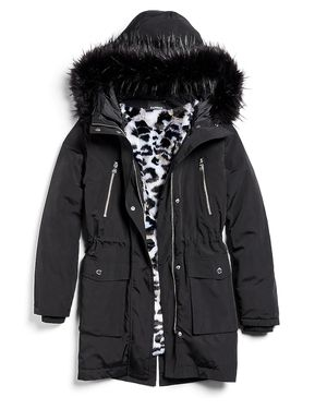Nwt Black Express anorak jacket - detachable faux fur vest for Sale in Seattle, WA