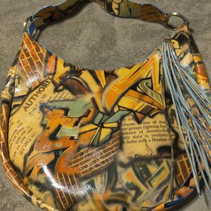 Sondra Roberts Art Design Tassel Hobo Bag Purse for Sale in Chandler, AZ