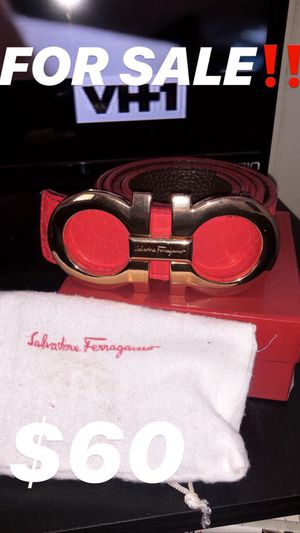 Red & Gold Ferragamo Belt Size: 48 for Sale in Tallahassee, FL