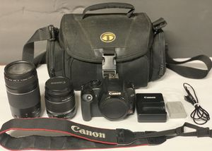Canon Rebel XS DSLR w/ 2 Canon Lenses/Neckstrap/Battery/Charger for Sale in Philadelphia, PA