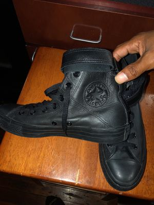 Leather converse with scraps size 8 for Sale in Baltimore, MD
