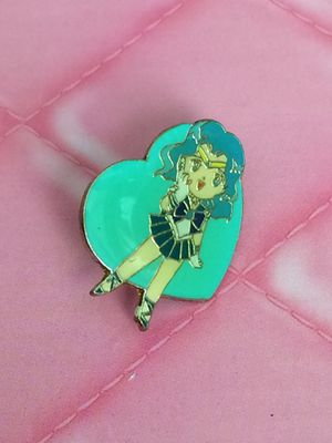 Collectible sailor moon neptune gold tone anime manga enamel pin badge for Sale in Walkersville, MD