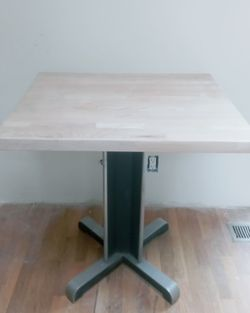 Vintage metal and butcher block cafe table for Sale in Kent,  WA