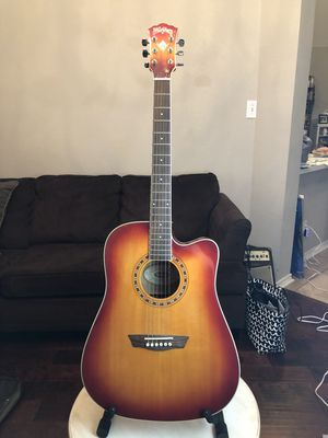 Amazing Washburn WD7SCE ACS Acoustic Electric Guitar for Sale in Richardson, TX