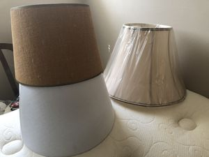 Three lamp shades for Sale in Rockville, MD
