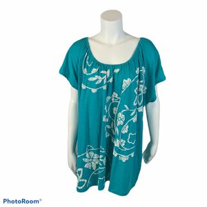 Women's St. John's Bay turquoise T-shirt size 3x for Sale in Surgoinsville, TN