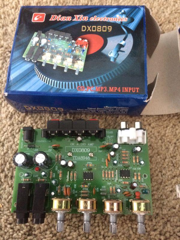 Dx0809 high quality hi fi stereo amplifier 60 watt