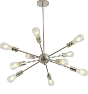 10 Lights Modern Pendant Lighting Industrial Vintage Ceiling Light Fixture, Nickel for Sale in Los Angeles, CA