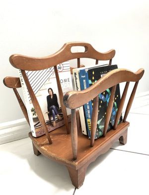 Vintage Solid Wood Magazines/Books Rack for Sale in West Covina, CA