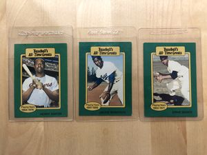 Baseball greats vintage collectible cards for Sale in Los Angeles, CA