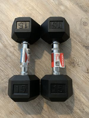 Pair of hex dumbbells 15lbs for Sale in Lutz, FL