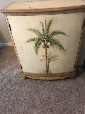 Palm tree accent furniture cabinet for Sale in Cary, NC