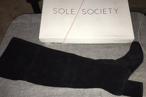 Thigh high Black suede boot heels for Sale in Camden, NJ