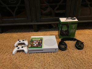Xbox One S w/ 2 controllers, Turtle Beach Stealth 600 Xbox headset (wireless), and games( specify in description) for Sale in El Cajon, CA