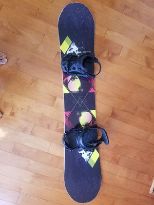 Rome snowboard 150 + bindings M for Sale in Centreville, VA