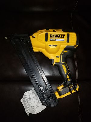 Brand New DeWalt 20 volt gun finish nail 15 ga brushless tool only for Sale in Chicago, IL