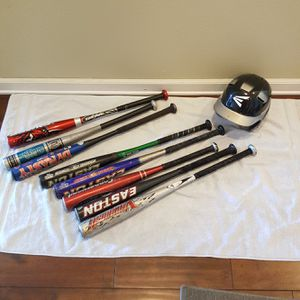 Kids Baseball Bats and Helmet for Sale in Riverview, FL