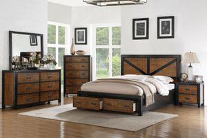 4-pcs queen bedroom set on sale only at elegant Furniture 🛋🎈🛏 for Sale in Fresno, CA