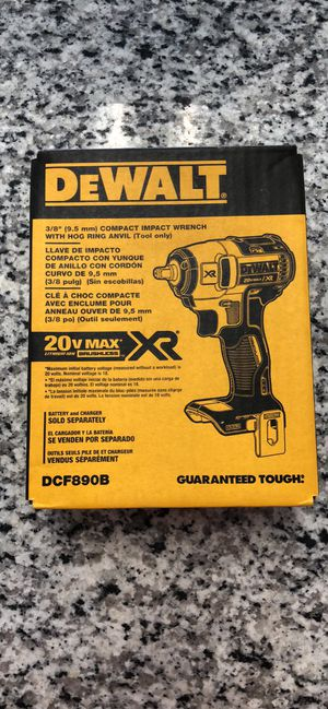 """Brand New DeWalt 3/8"""" Compact Impact Wrench for Sale in Revere, MA"""