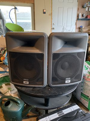 Pro Audio Speaker Monitors with Amp, Power Rack, and Case for Sale in Birmingham, MI
