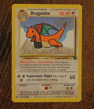 1999 Dragonite Black Star Promo Pokemon Card WOTC - The First Movie VNM/Mint for Sale in Chino Hills, CA