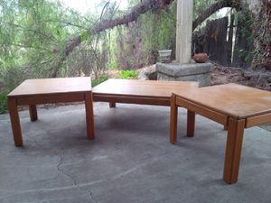 3 matching oak tables for Sale in Hemet, CA