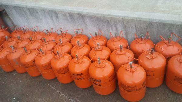 Empty freon Tanks
